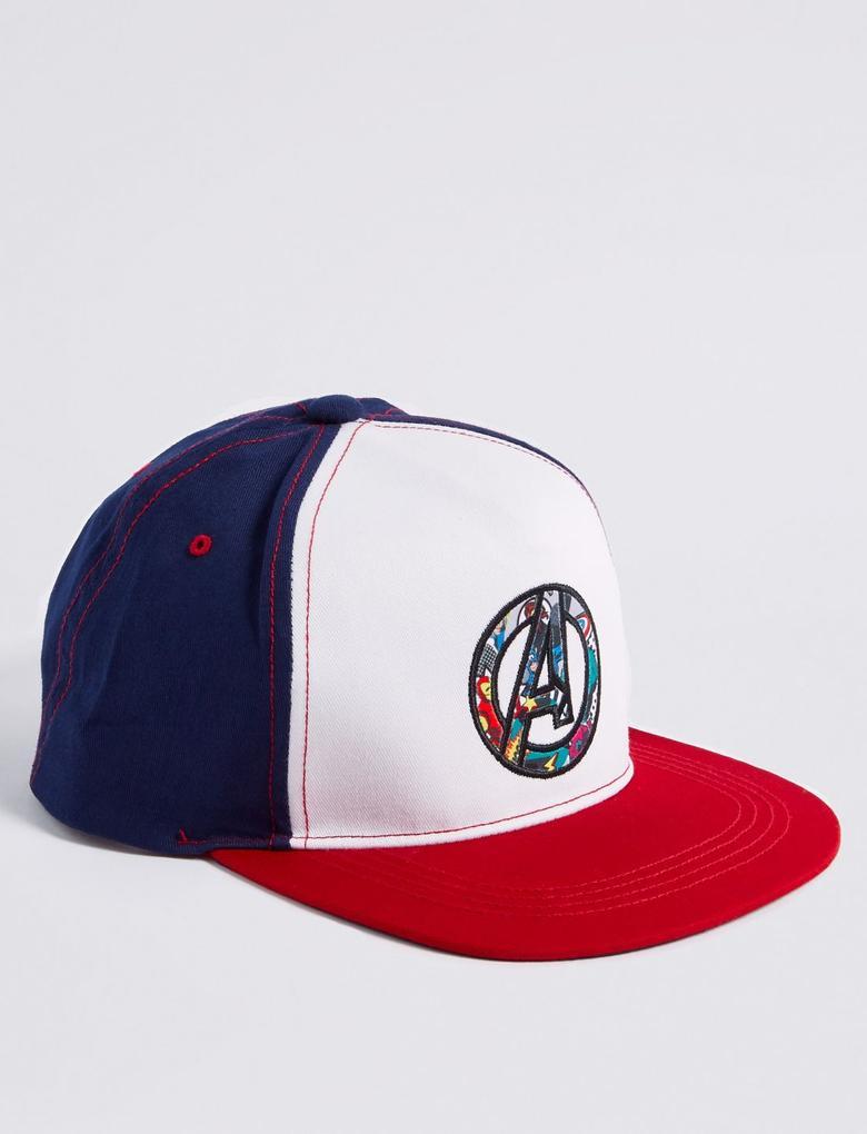 Erkek Çocuk Multi Renk Kids' Avengers Saf Pamuklu Şapka