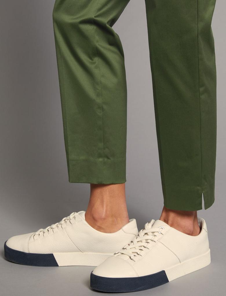 Yeşil Supima Pamuklu Pantolon