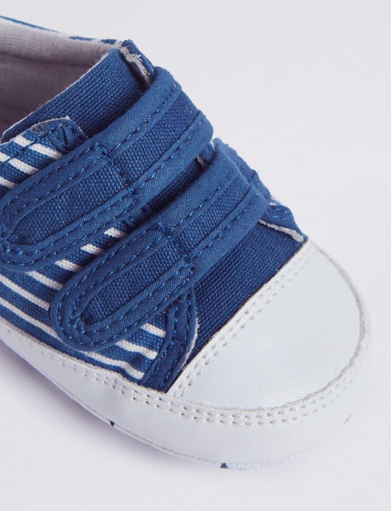 Lacivert Cırtcırtlı Çizgili Ayakkabı
