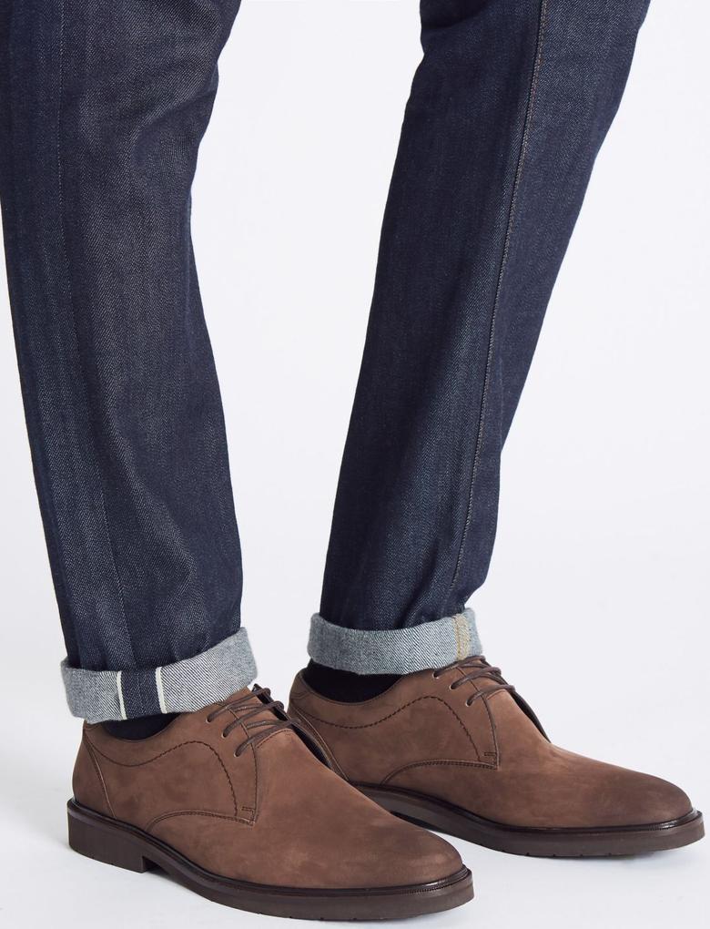 Kahverengi Bağcıklı Deri Ayakkabı (Airflex Teknolojisi ile)