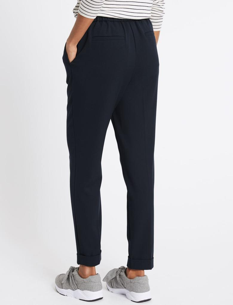 Kadın Lacivert Tapered Leg Pantolon