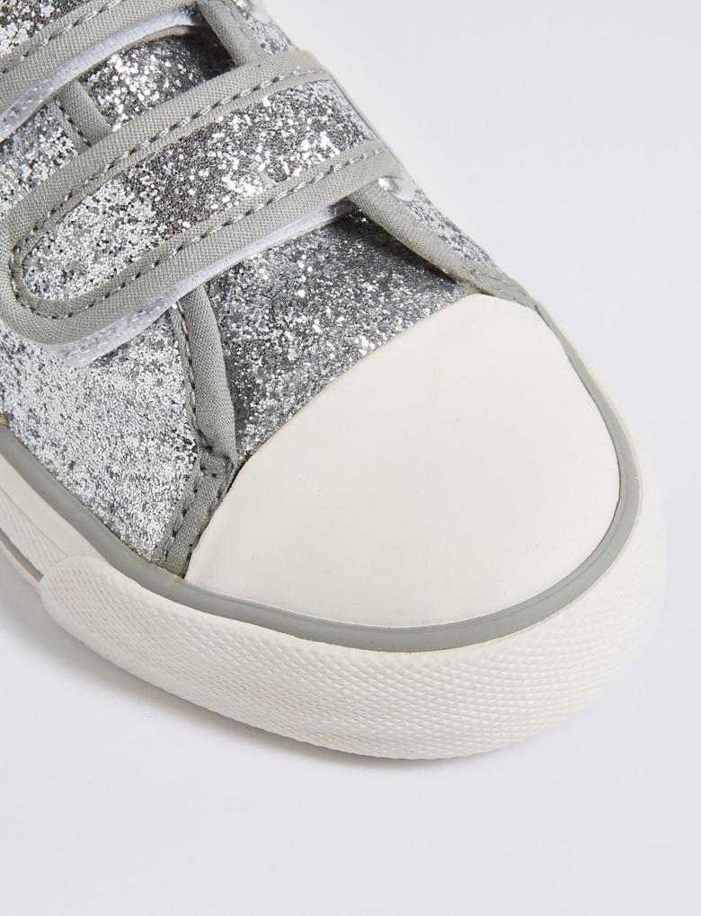 Kids' Pırıltılı Cırtcırtlı Spor Ayakkabı