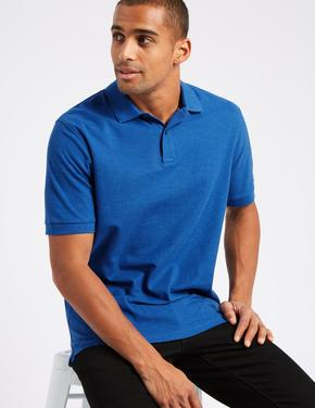 Pure Cotton Polo Yaka T-Shirt
