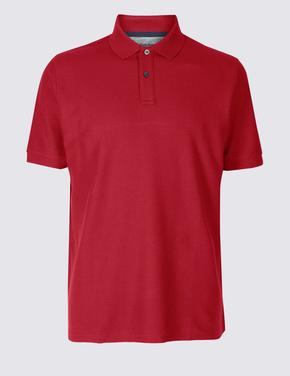 Pure Cotton Polo Yaka T-Shirt