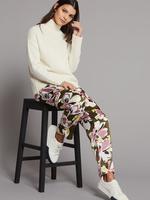 Çiçek Desenli Tapered Leg Pantolon