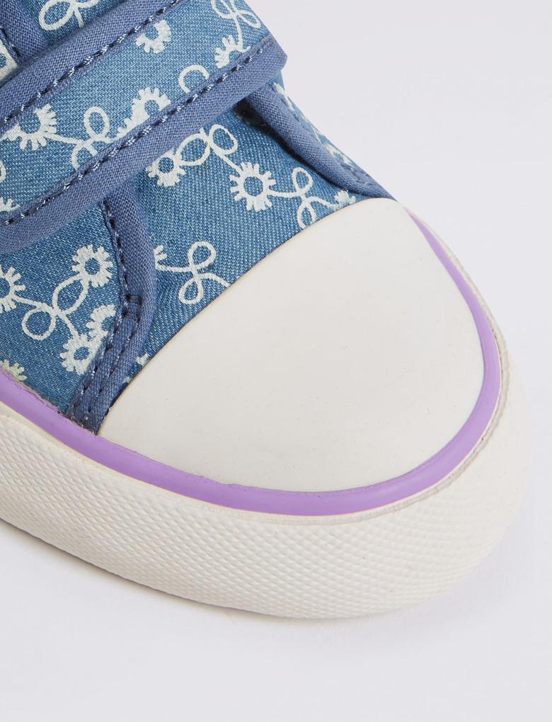 Mavi Kids' Cırtcırtlı Denim Spor Ayakkabı