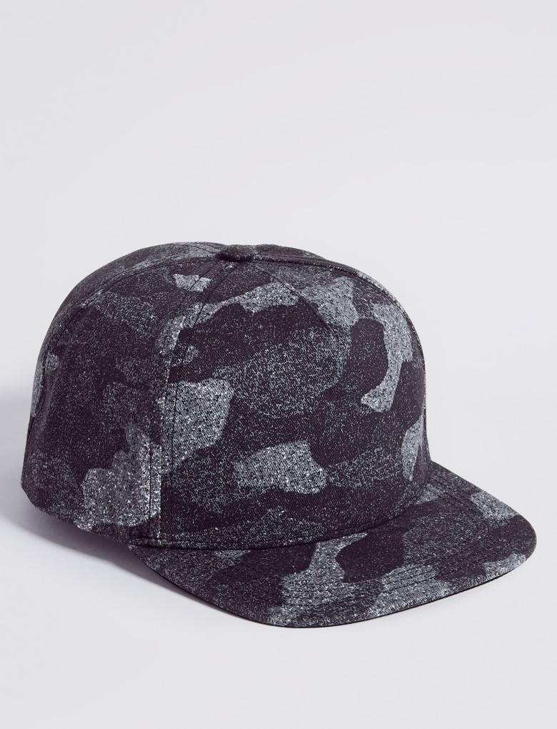 Gri Kids' Saf Pamuklu Şapka