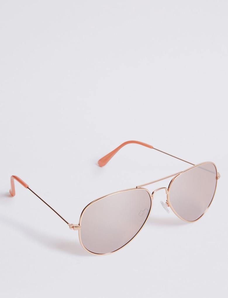 Pembe Aviator Güneş Gözlüğü