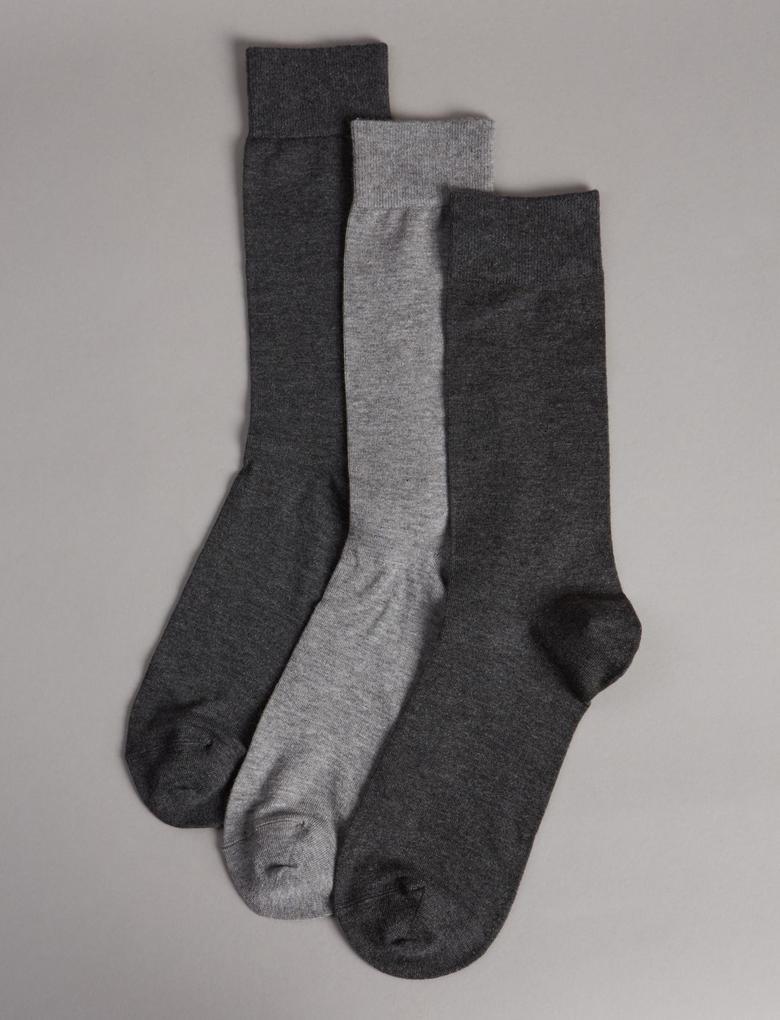 3'lü Modal Karışımlı Çorap