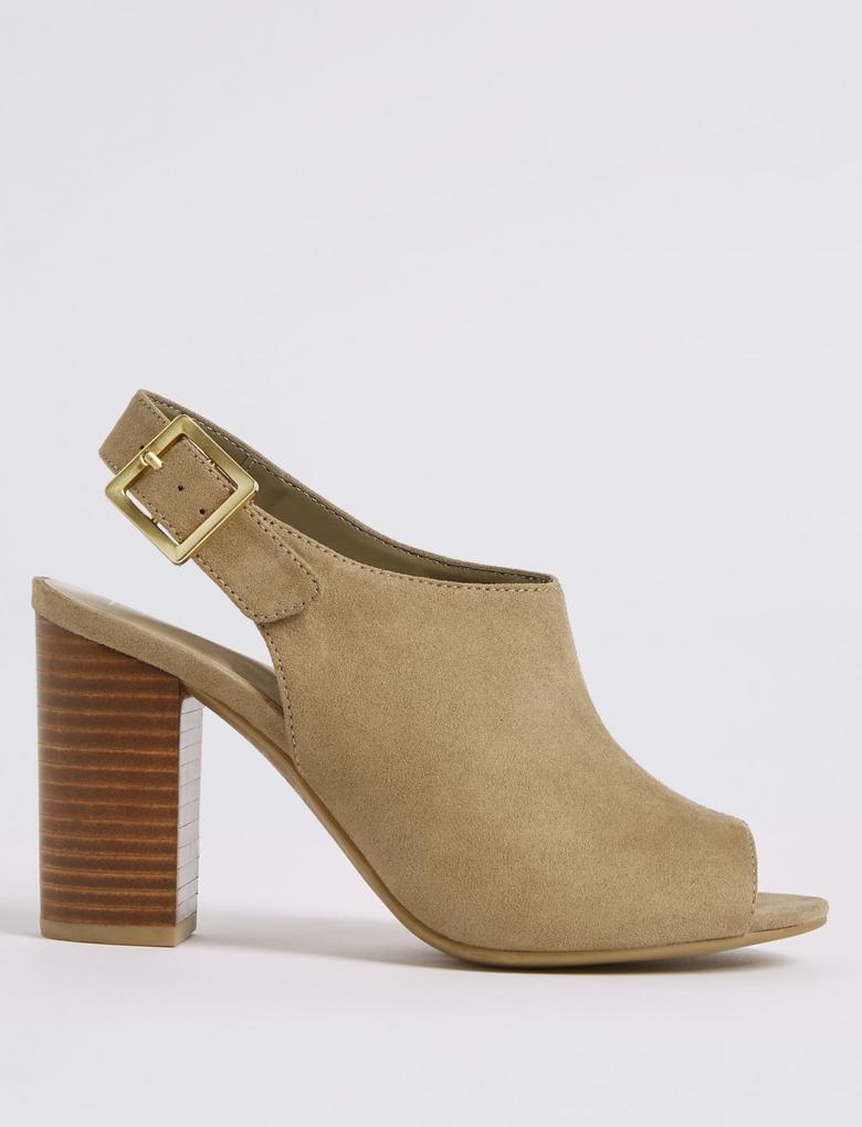 Kalın Topuklu Açık Ayakkabı