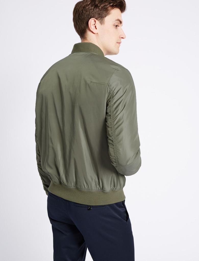 Yeşil Bomber Ceket (Stormwear™ Teknolojisi ile)