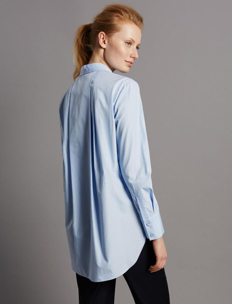 Uzun Poplin Gömlek