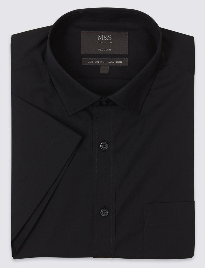 Pamuklu Kolay Ütülenebilir Regular Fit Gömlek