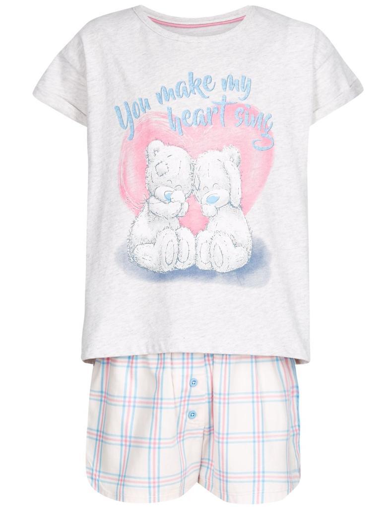 Gri Saf Pamuklu Pijama Takımı