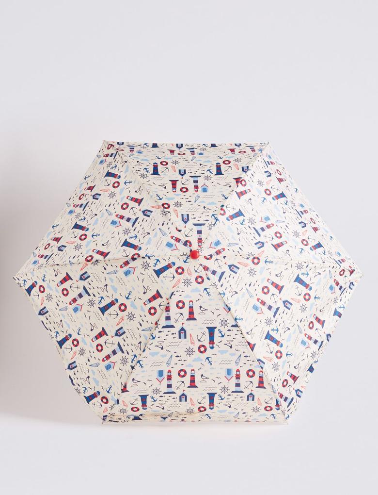 Bej Desenli Kompakt Şemsiye (Stormwear™ Teknolojisi ile)
