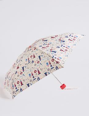 Desenli Kompakt Şemsiye (Stormwear™ Teknolojisi ile)