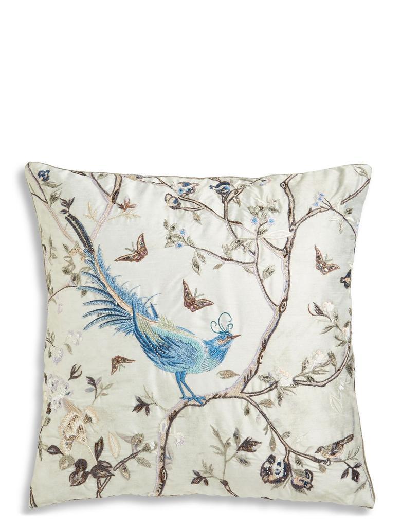 Mavi İşlemeli Yastık