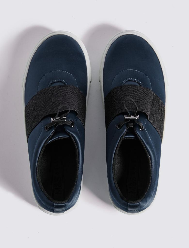 Lacivert Bağcıksız Spor Ayakkabı