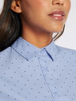 Pamuklu Yıldız Desenli Potluk Yapmayan Gömlek