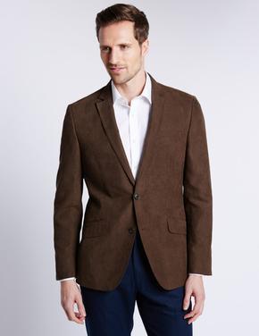 Çift Düğmeli Süet Ceket