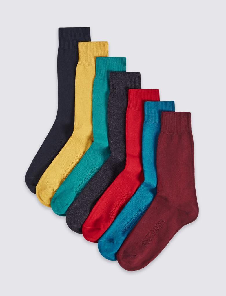 7'li Pamuklu Çorap (Cool & Freshfeet™ Teknolojisi ile)