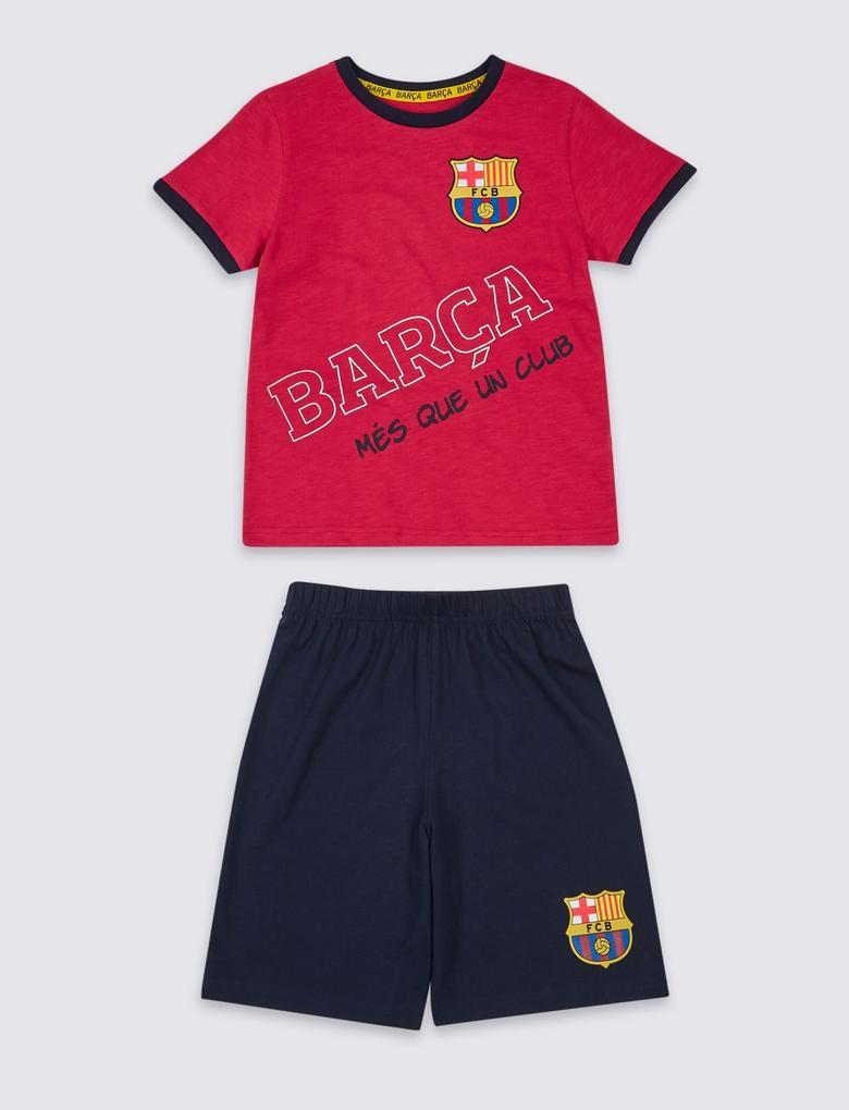 Siyah FC Barcelona™ Pamuklu Pijama Takımı