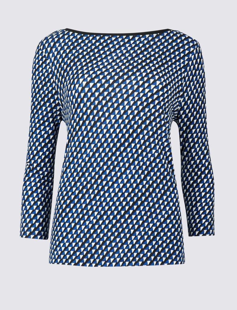 Siyah Açık Yakalı Bluz