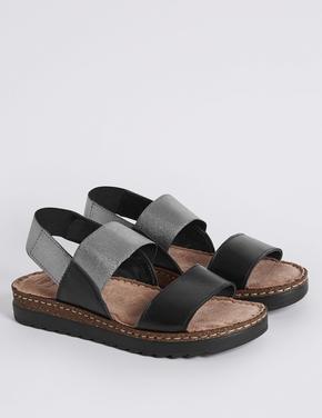 Elastik Bantlı Sandalet