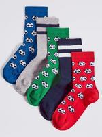 Kırmızı 5'li Pamuklu Puantiyeli Çorap