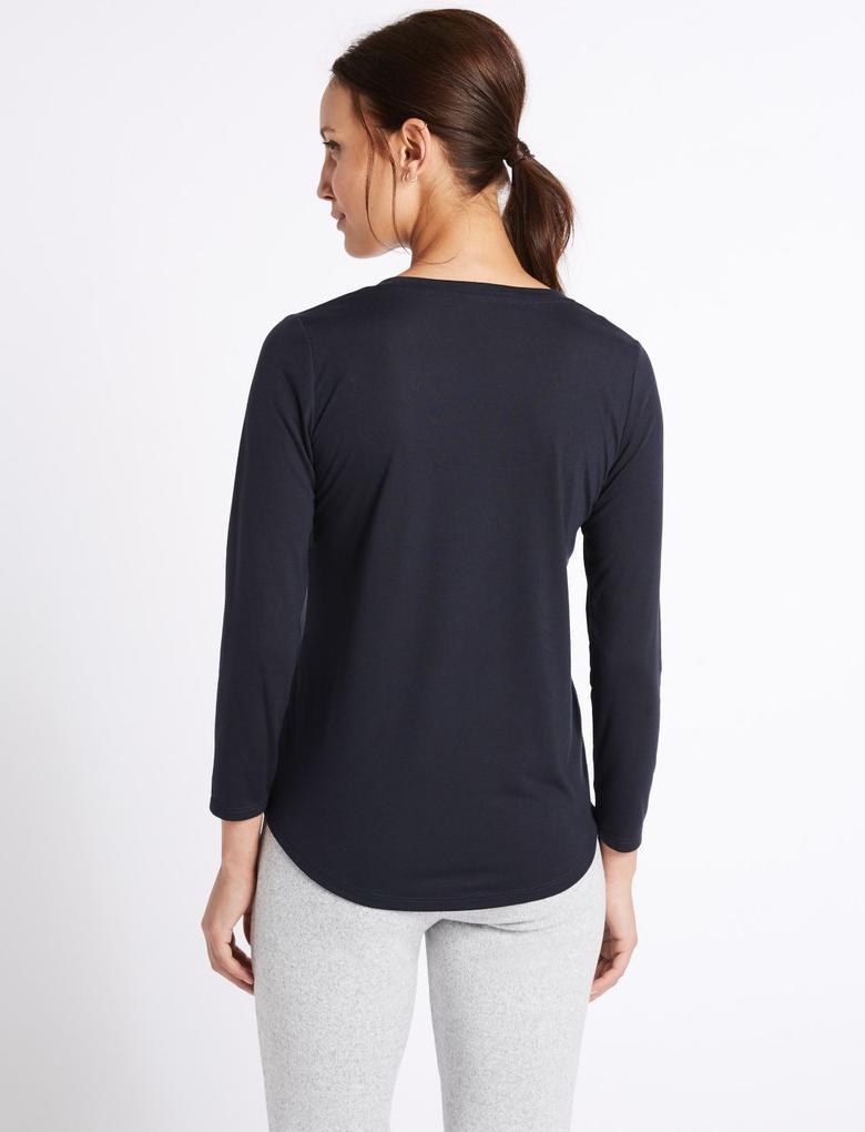 Uzun Kollu Jarse T-Shirt