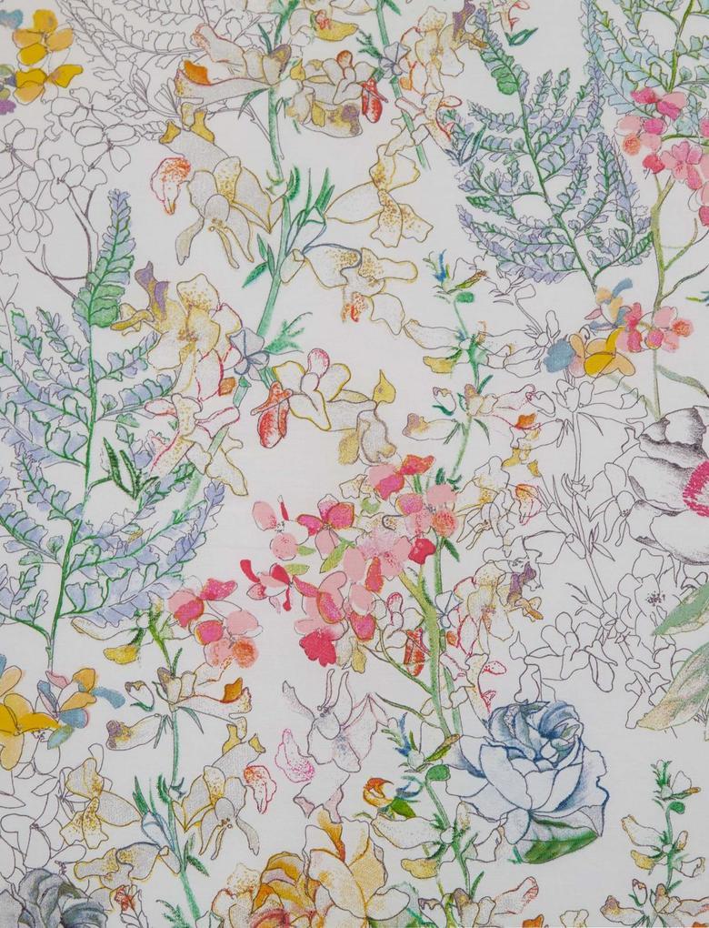 Multi Renk Çiçek Desenli Yatak Takımı