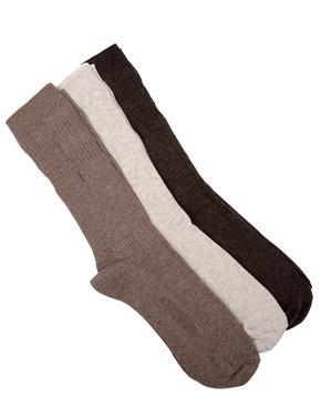 Bej 3'lü Çorap (Freshfeet™ Teknolojisi ile)