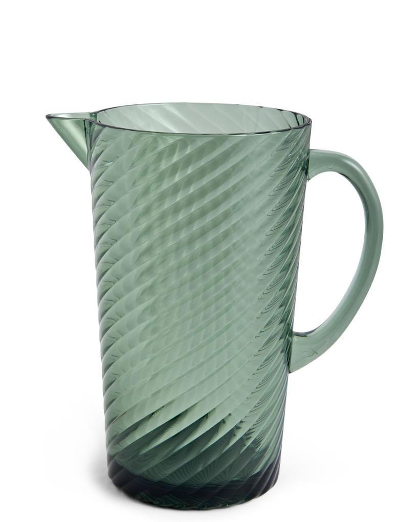 Ev Yeşil Dalga Motifli Sürahi