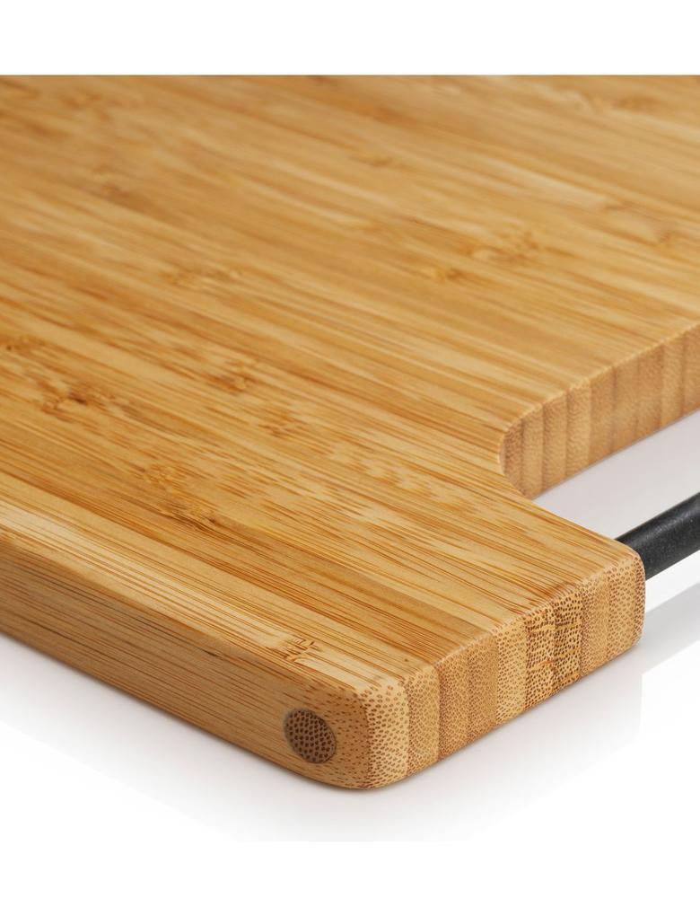 Silikon Tutacaklı Bambu Kesme Tahtası