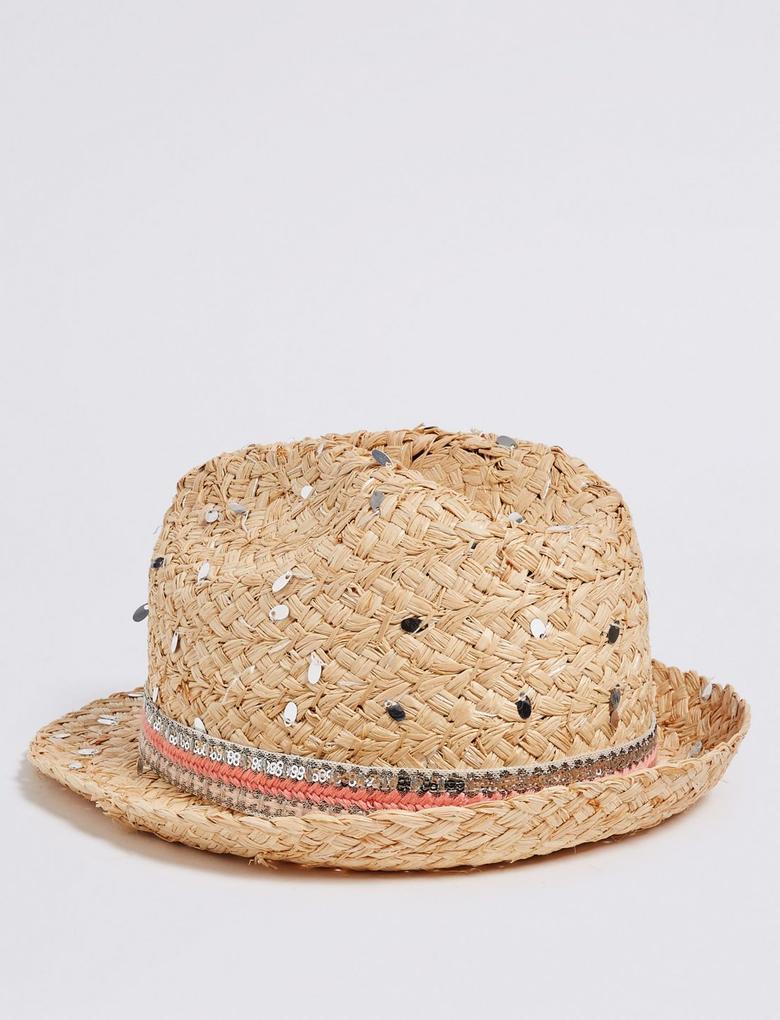 Bej Pullu Şapka