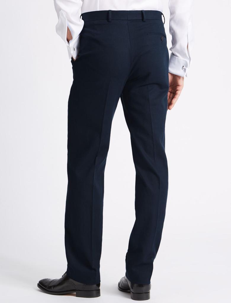 Keten Karışımlı Regular Fit Pantolon