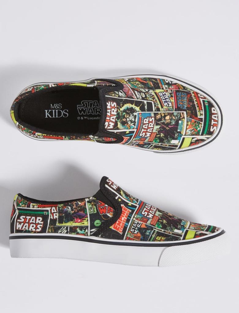 Star Wars™ Desenli Bağcıksız Spor Ayakkabı