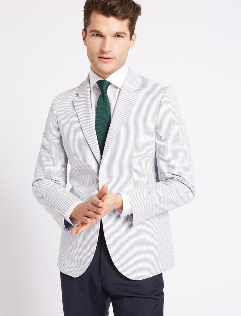 Çizgili Tailored Fit Ceket
