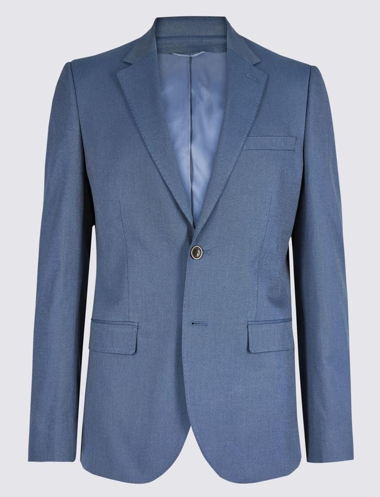 Pamuklu Streçli Tailored Fit Ceket