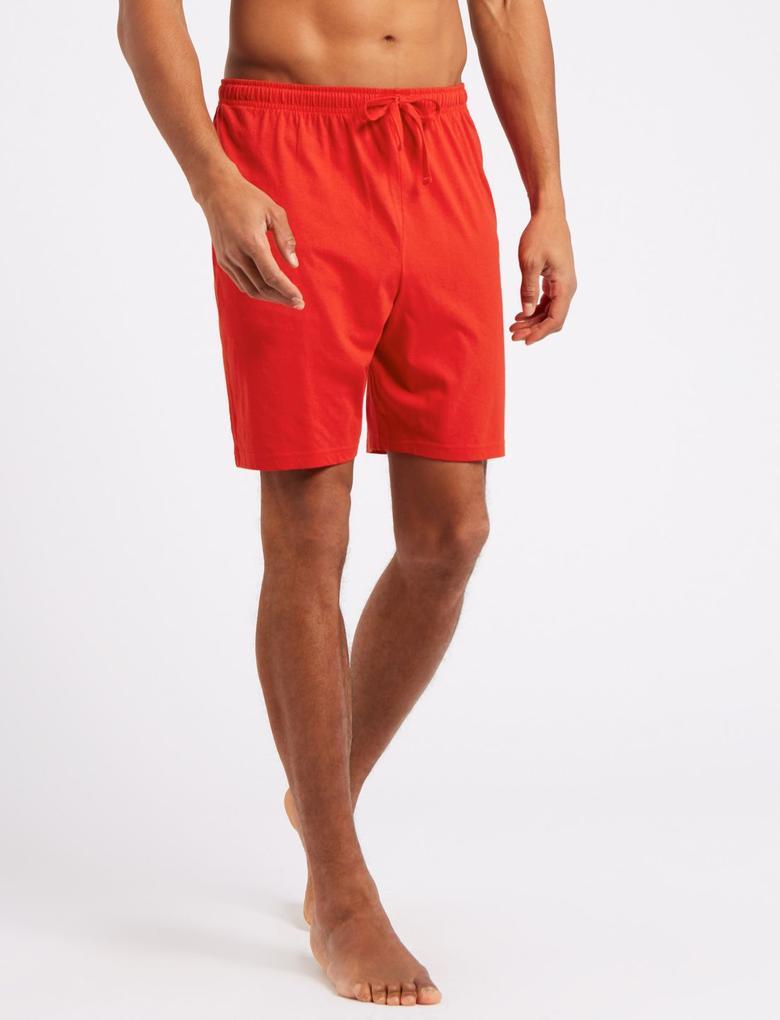 Kırmızı 2'li Saf Pamuklu Pijama Takımı