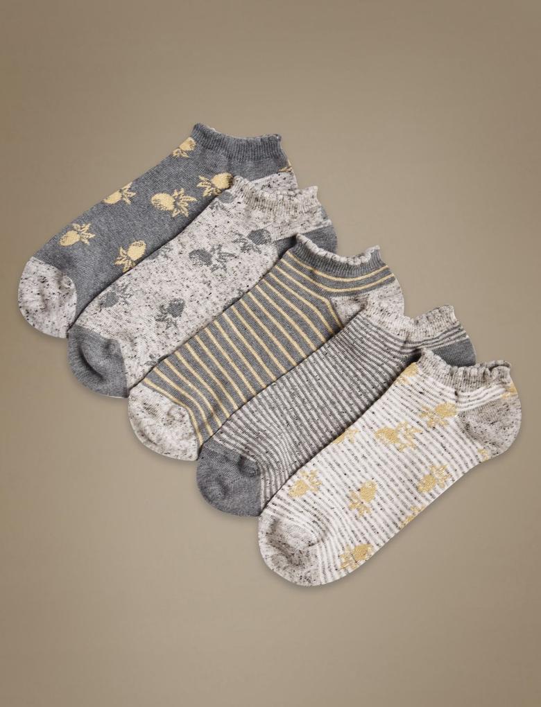 Gri 5'li Pamuklu Çorap