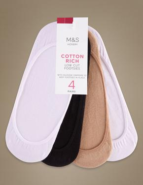 Kadın Beyaz 4'lü Babet Çorabı