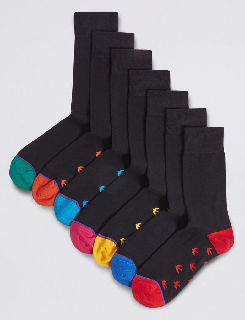 7'li Pamuklu Cool & Freshfeet™ Çorap