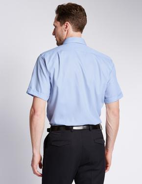 Kısa Kollu Ütü Gerektirmeyen Regular Gömlek