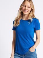 Kadın Mavi Kısa Kollu Yuvarlak Yaka T-Shirt