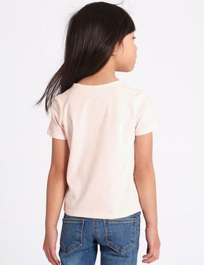 Saf Pamuklu Desenli T-Shirt (StayNew™ Teknolojisi ile)