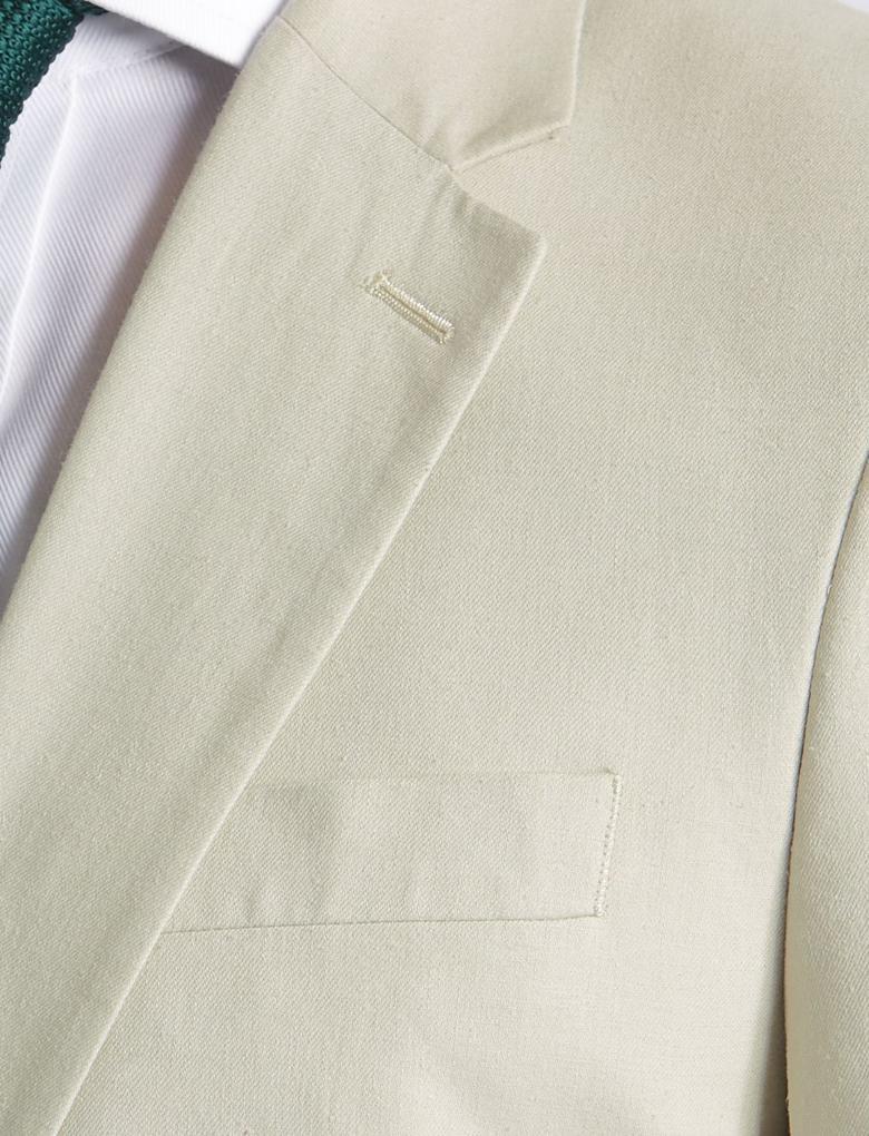 Keten Karışımlı Regular Fit Ceket