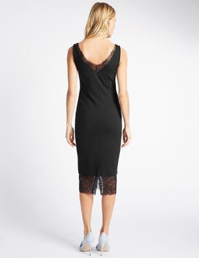 Dantel Detaylı Kolsuz Elbise