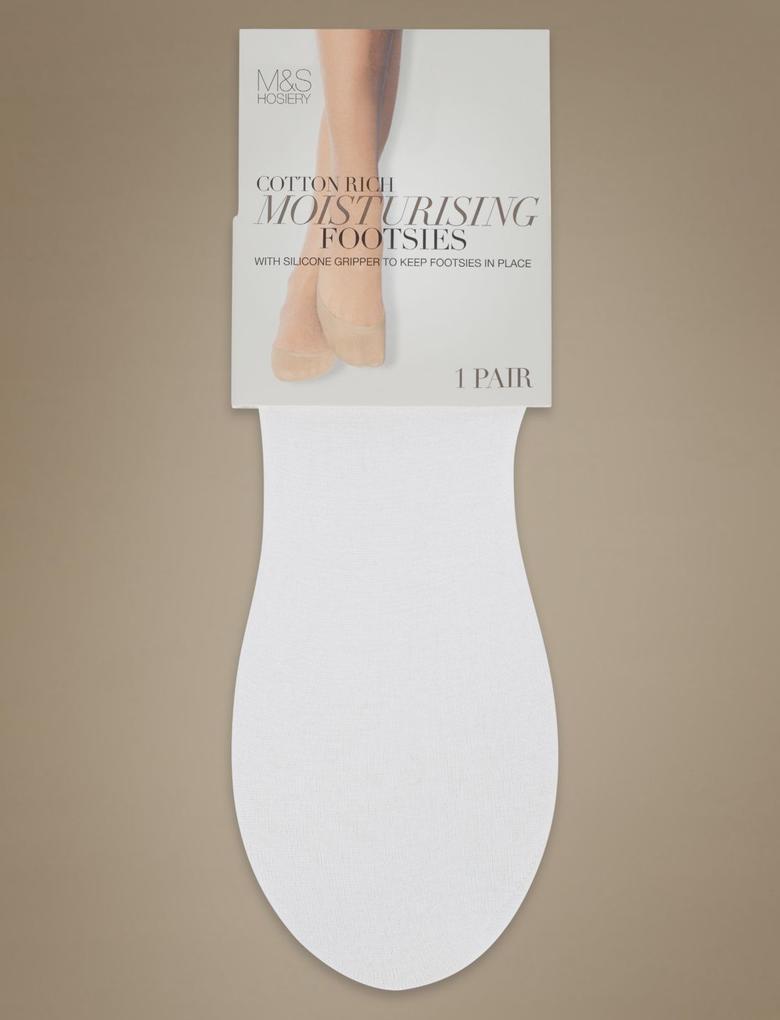 Beyaz Babet Çorabı (Silver Teknolojisi ile)