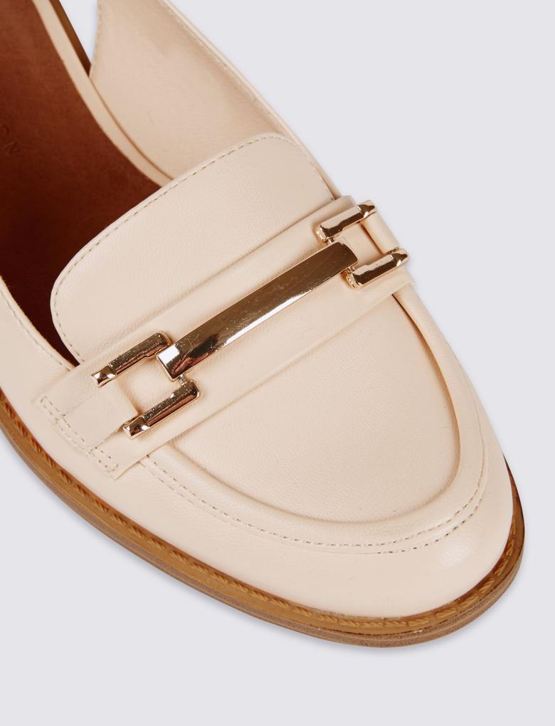 Bej Arkası Açık Tokalı Ayakkabı